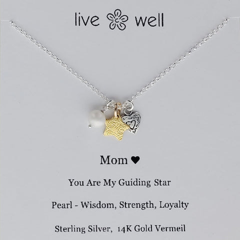 Live Well Mom Guiding Star Necklace