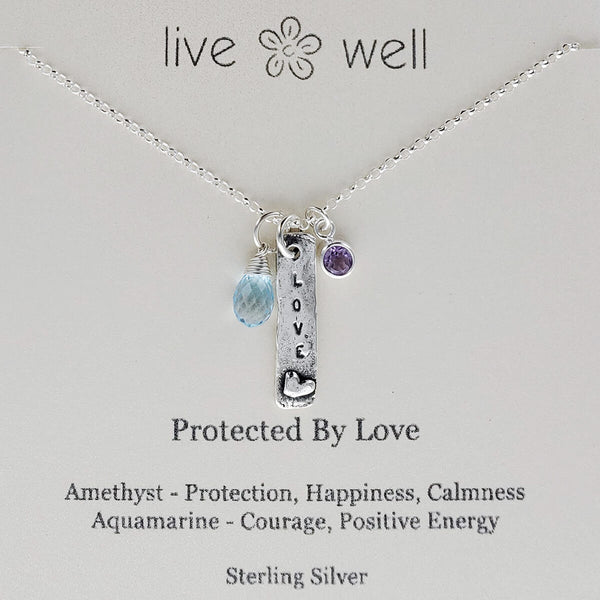 Protected By Love Necklace Quote Card