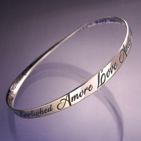 Love In Twenty Eight Languages Mobius Bracelet