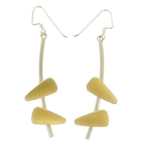 Mar Brushed Gold Calder Earrings