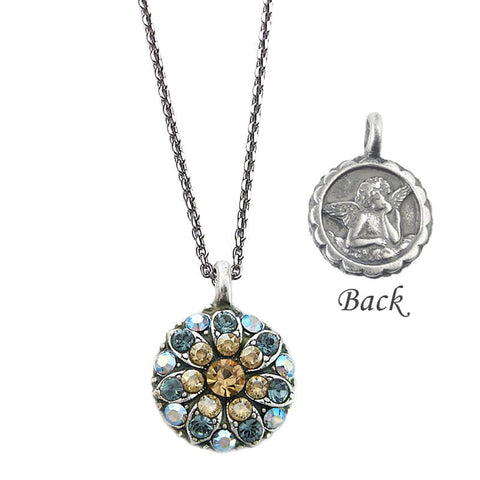 Mariana Angel Necklace With Topaz And Blue Crystals