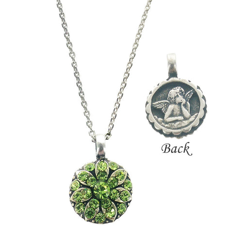 Mariana Guardian Angel Necklace Peridot Crystals