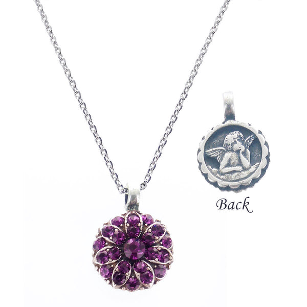 Mariana Guardian Angel Necklace Amethyst Crystals