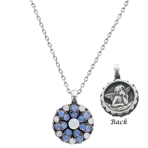 Mariana Angel Necklace Shades of Blue & White Crystals