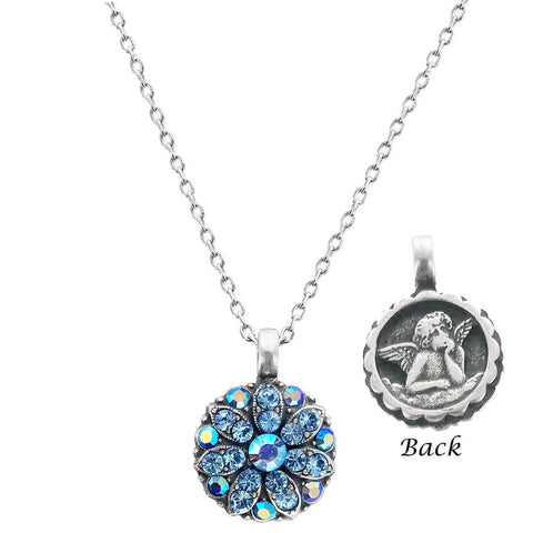 Mariana Angel Necklace In Crystal Blue