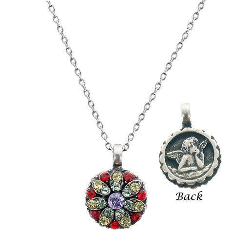 Mariana Multi Color Guardian Angel Crystal Necklace