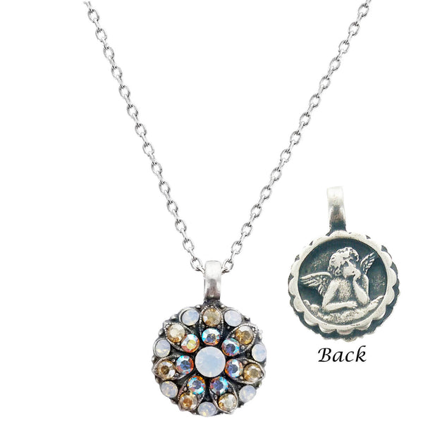 Mariana Guardian Angel White And Light Topaz Crystals Necklace