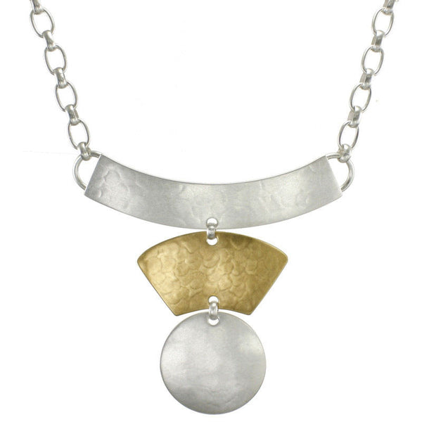 Marjorie Baer Textured Arcs Discs Necklace