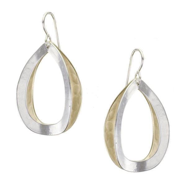 Marjorie Baer Back To Back Open Concave Teardrop Earrings
