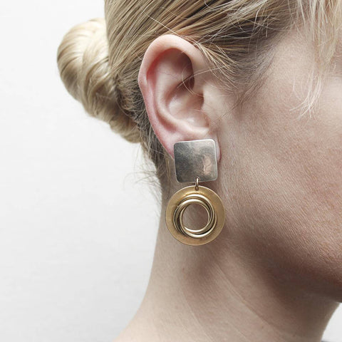 Marjorie Baer Bold Knoted Open Hoop Clip Earrings On Ear