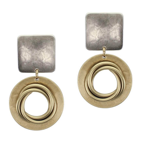Marjorie Baer Bold Knoted Open Hoop Clip Earrings