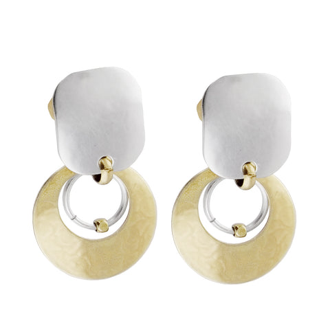 Marjorie Baer Crescant Hoop Clip Earrings