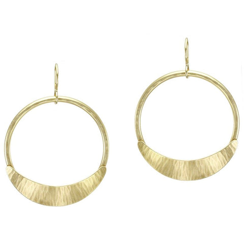 Marjorie Baer Crescent Hoop Earrings