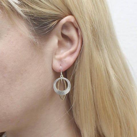 Marjorie Baer Cutout Hoop Leaf Earrings On Ear