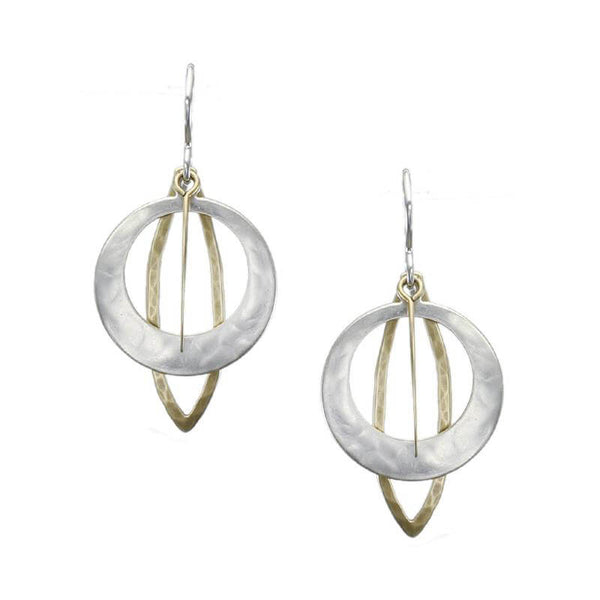 Marjorie Baer Cutout Hoop Leaf Earrings