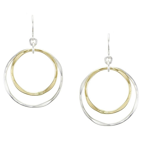 Marjorie Baer Double Hammered Hoop Earrings