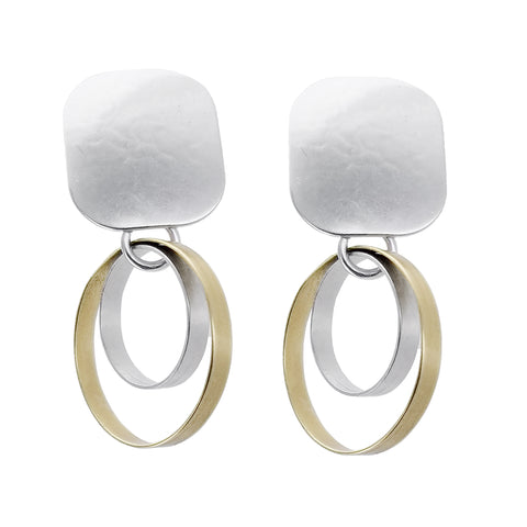 Marjorie Baer Double Hoop Clip Earrings