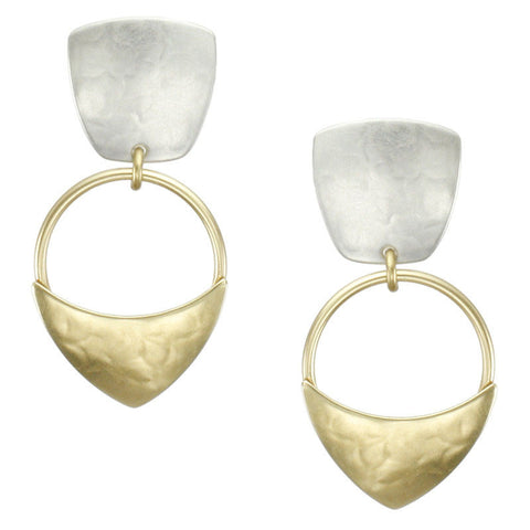 Marjorie Baer Two Toned Swing Earrings