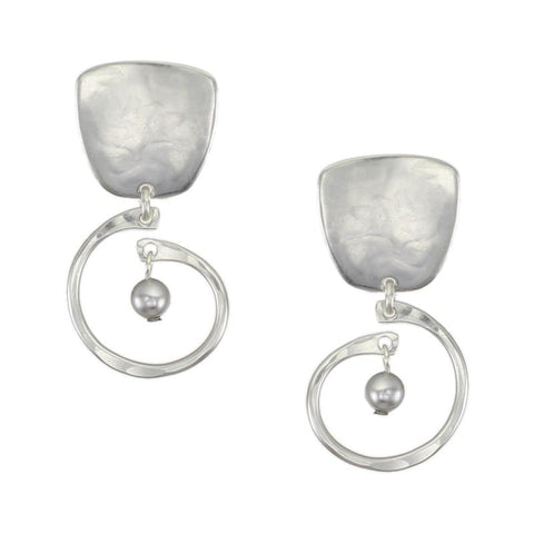 Marjorie Baer Tapered Square Small Spiral Pearl Earrings