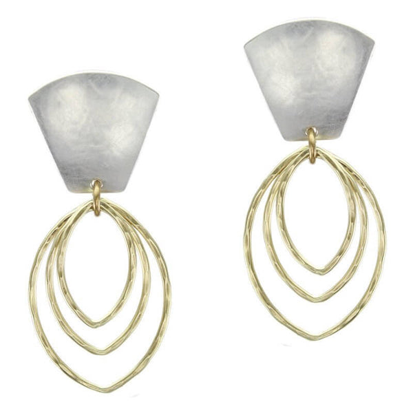 Marjorie Baer Fan Top Oval Hoop Earrings