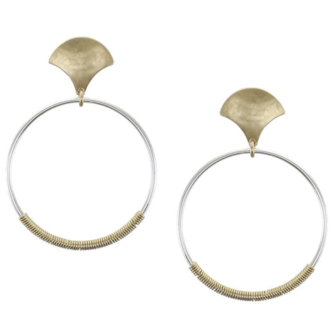 Marjorie Baer Fan Wire Wrapped Hoop Clip Earrings