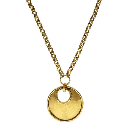 Marjorie Baer Gently Domed Gold Hoop Necklace