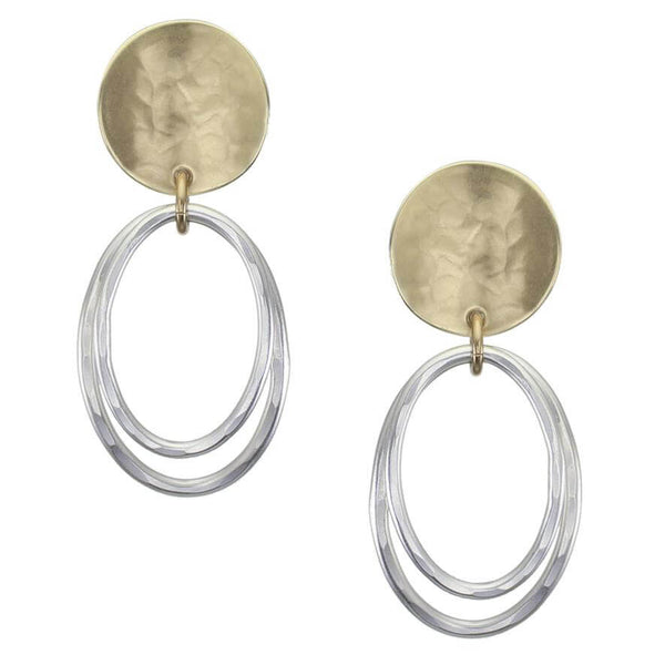 Marjorie Baer Harvest Moon Double Hoop Clip Earrings