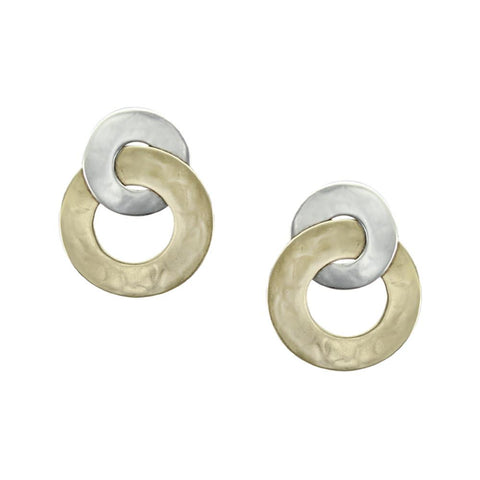 Marjorie Baer Intertwined Double Hoop Clip Earrings