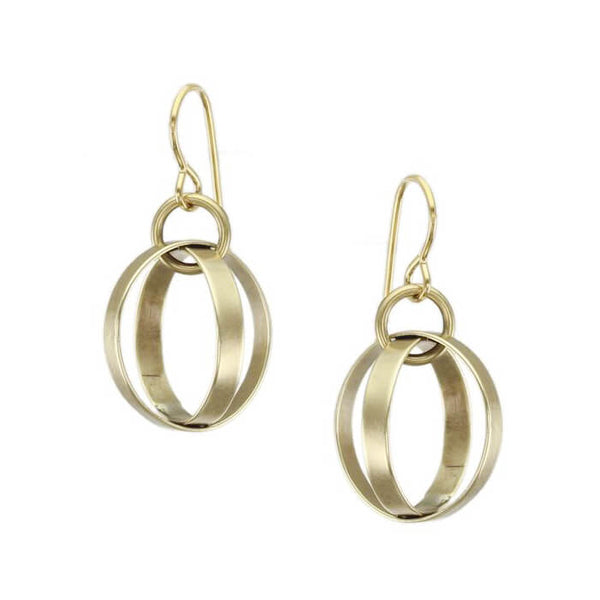 Marjorie Baer Lantern Wire Earrings