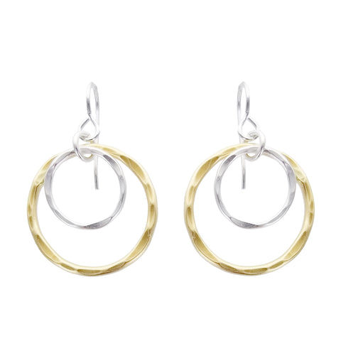 Marjorie Baer Layered Double Hoops Earrings