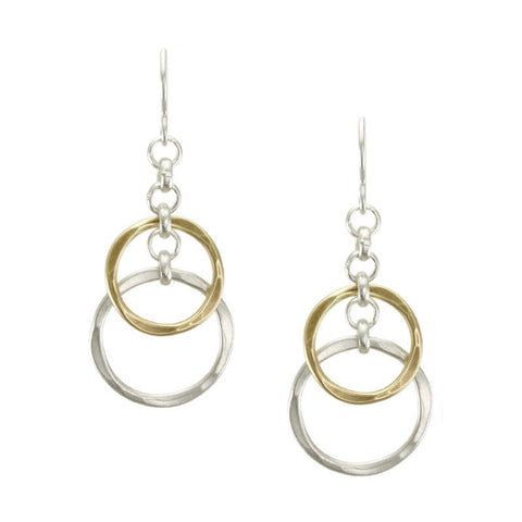 Marjorie Baer Layered Hammered Hoop Earrings