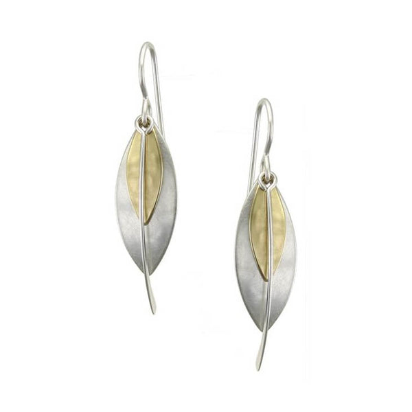 Marjorie Baer Layered Leaves Swoop Earring