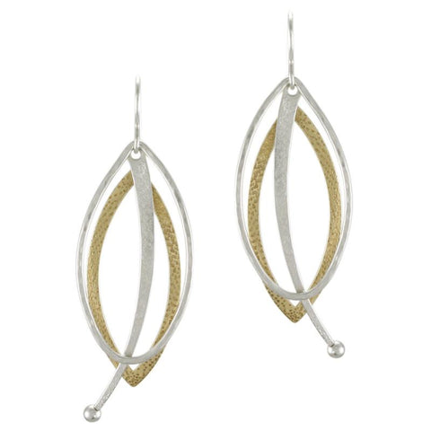 Marjorie Baer Layered Oval and Pendulum Earring