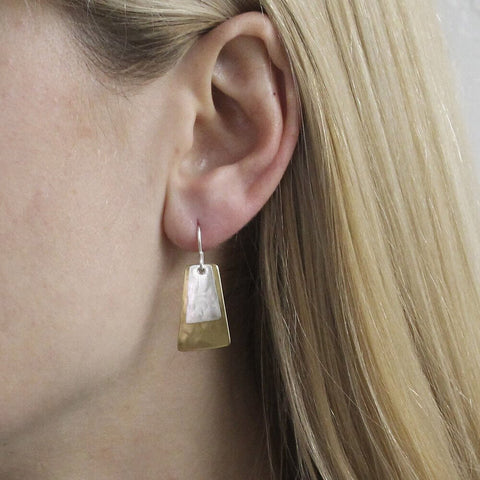 Marjorie Baer Layered Tapered Rectangle Earrings