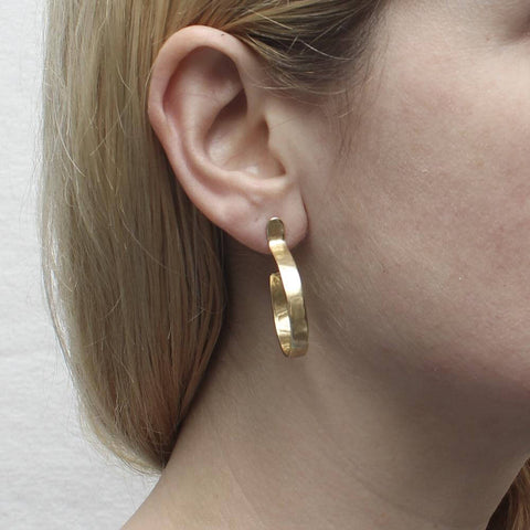 Marjorie Baer Medium Post Hoop Earrings On Ear