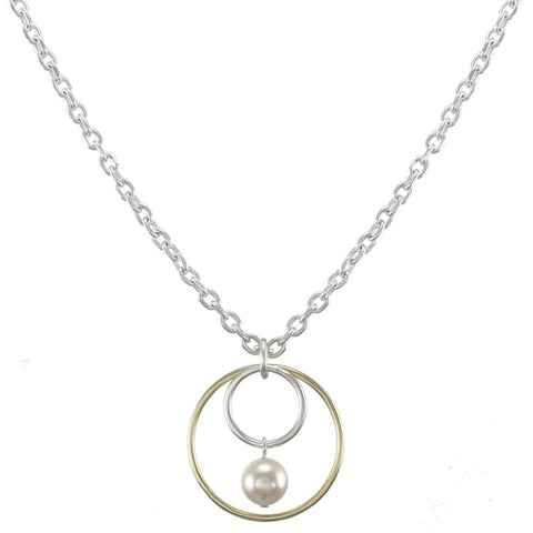 Marjorie Baer Medium Rings Pearl Drop Necklace