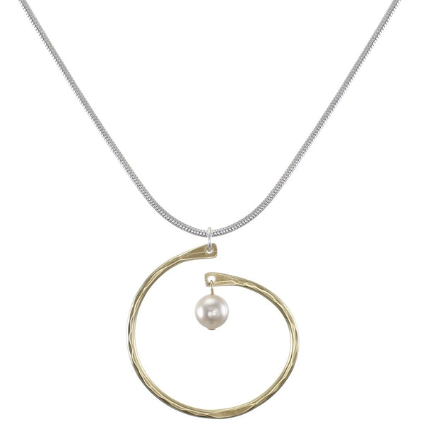 Marjorie Baer Spiral Cream Drop Necklace