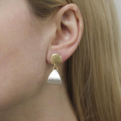 Marjorie Baer Disc With Triangular Loop Post Earrings