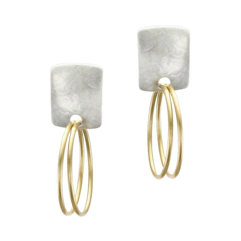 Marjorie Baer Rounded Rectangle with Double Hoops