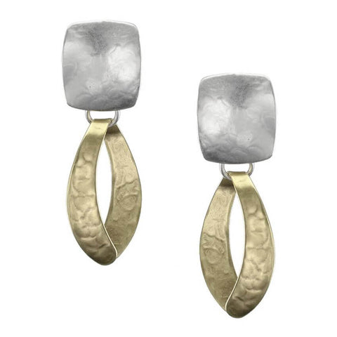 Marjorie Baer Swooping Open Hoop Clip Earrings