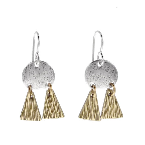 Marjorie Baer Textured Disc Mobile Dangle Earring