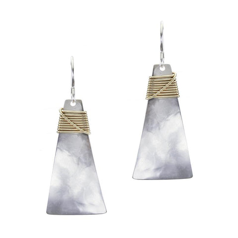 Marjorie Baer Trapezoid Crossed Wire Wrap Earring