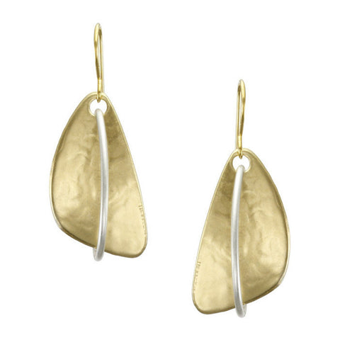 Marjorie Baer Interlocking Hoop Triangle Earrings