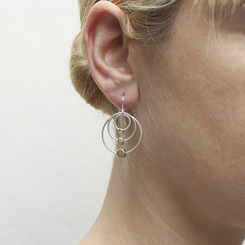 Marjorie Baer Triple Hoop Bead Earrings On Ear
