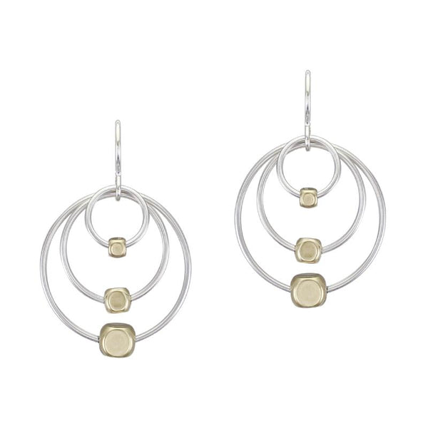 Marjorie Baer Triple Hoop Bead Earrings