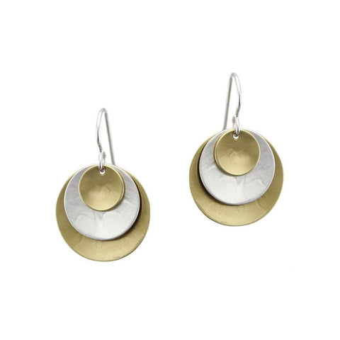 Marjorie Baer Triple Layered Disc Earrings