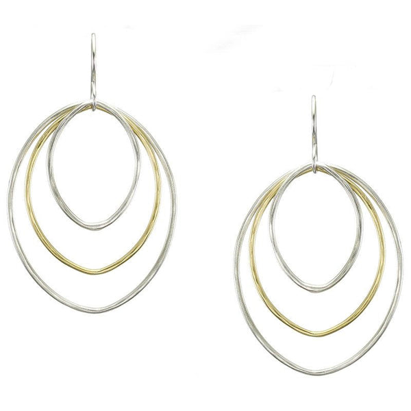 Marjorie Baer Large Tiered Oval Ring Earring
