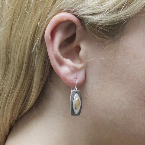 Marjorie Baer Triple Marquise Earrings Being Worn