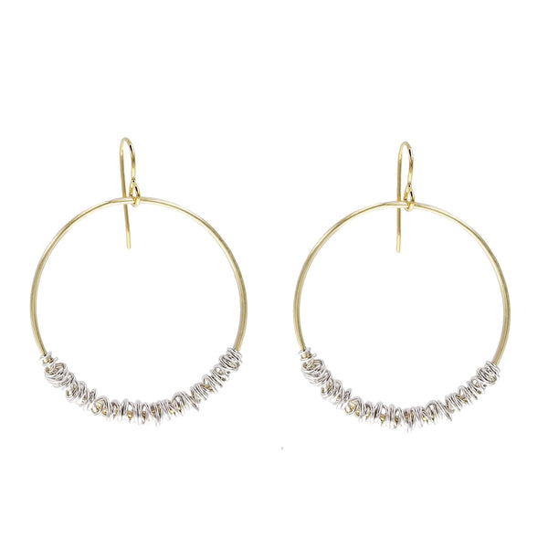 Marjorie Baer Wire Wrapped Hoop Earrings