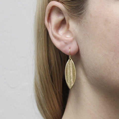 Marjorie Baer Concave Leaf Earring on Model